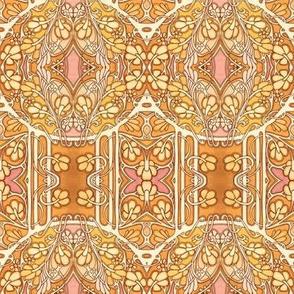 Orange Nouveau Garden
