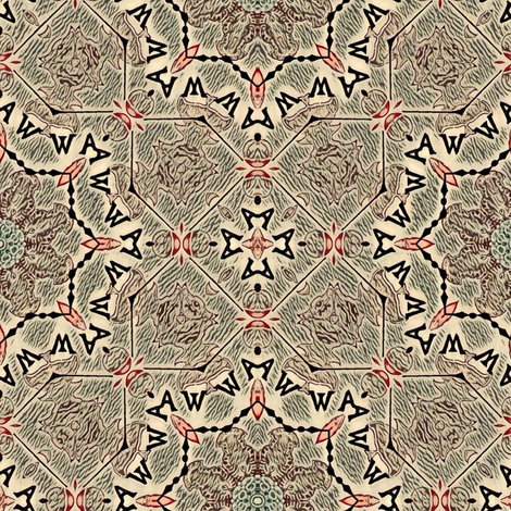 Wawawa fabric by lfntextiles on Spoonflower - custom fabric