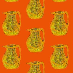 Jugs of Citrus Fizz on Tangerine - Medium Scale