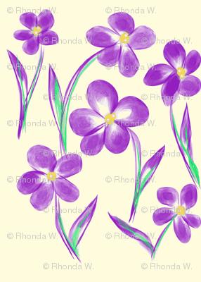 Dainty Meadow Flowers on Fields of Pale Cream