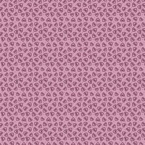 Ditsy hearts plum