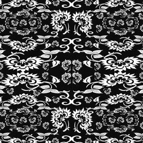 Ursula & Zacheus Colonial Dolls Fabric 1