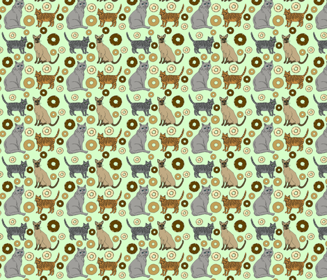 cats_and_donuts_11 fabric by leroyj on Spoonflower - custom fabric