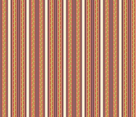 Vines and Stripes - berry fabric by thecalvarium on Spoonflower - custom fabric