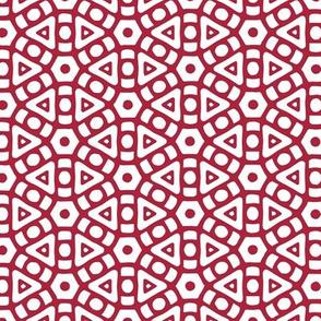 Scarlet Hexagonal Pattern