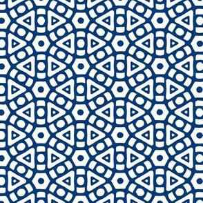 Indigo Hexagonal Pattern
