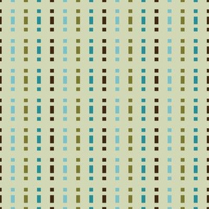 Mid-Century Stripe (Teal Palette)