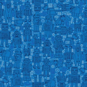 Robot pattern - blue
