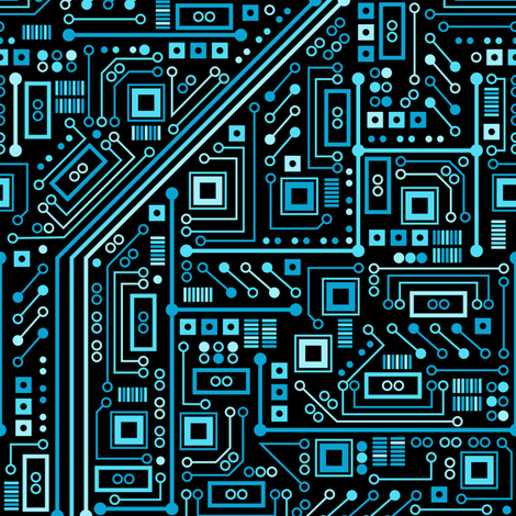 Short Circuits (Blue) fabric by robyriker on Spoonflower - custom fabric