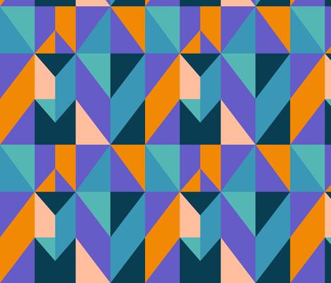 Multi-Color Geometric fabric by mariafaithgarcia on Spoonflower - custom fabric