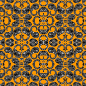 Paisley orange & black