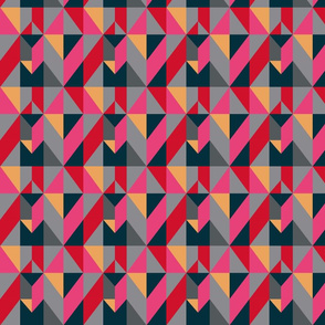 Pink and Gray Geometric