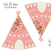 Floral Teepee Plushie - Cut and Sew
