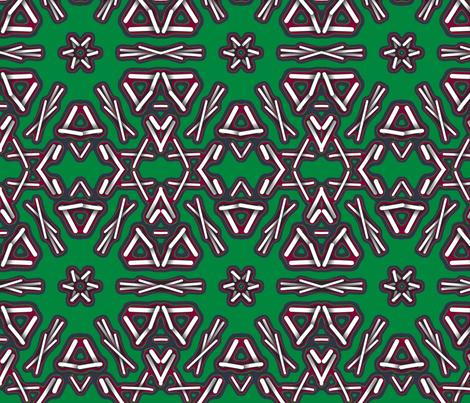 Green fabric by gethugged on Spoonflower - custom fabric