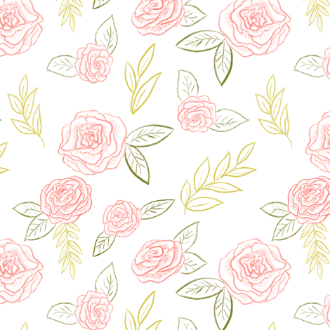 Sweet rose fabric by mintpeony on Spoonflower - custom fabric