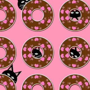 Cats+donuts kitty hides in doughnuts