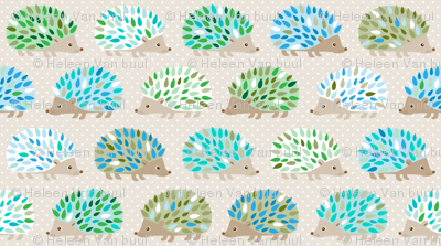 Hedgehog polkadot - small blue