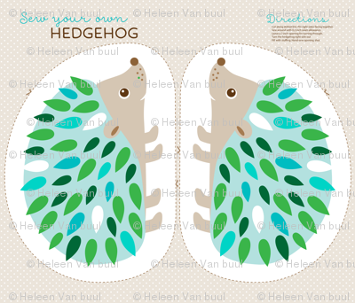 Hedgehog cut and sew - blue