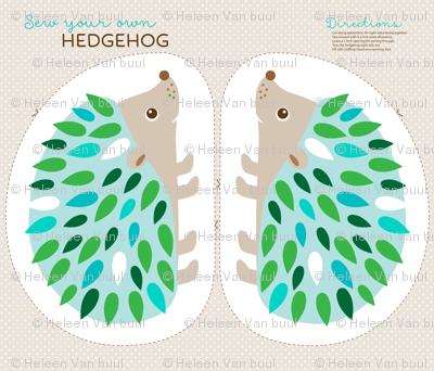 Hedgehog cut and sew - blue