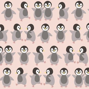 Just penguins on pink