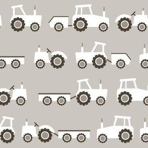 White tractors