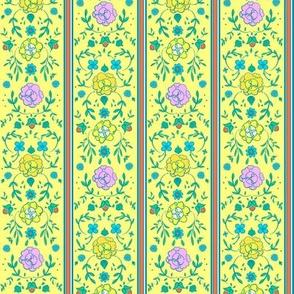 Floral Ticking 1