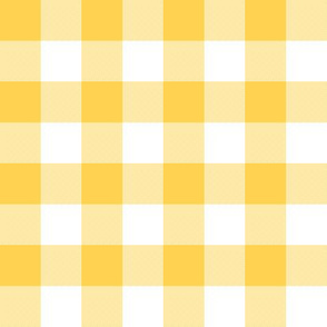 "Yellow and white 1"" gingham check"