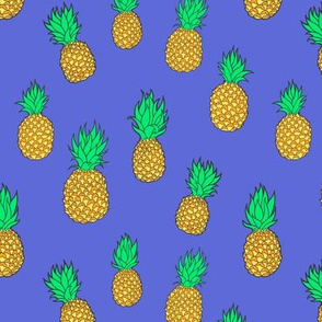 Pineapples on Vibrant Purple