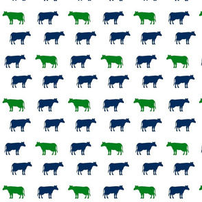 Cows navy green