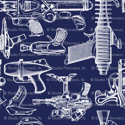 Ray Gun Revival (Navy Blue) (4x4)