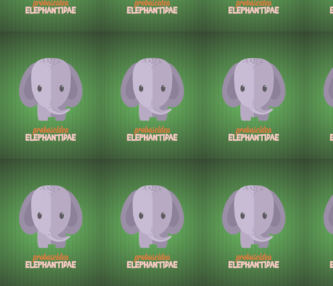 Latin Elephant fabric by studiofibonacci on Spoonflower - custom fabric