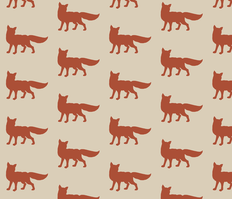Fox - rust/red fabric by sugarpinedesign on Spoonflower - custom fabric