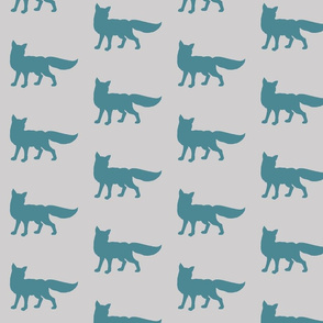 Fox - teal/ gray - Winslow collection