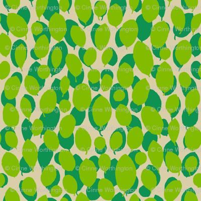 leaf relief - spring/lime/sand