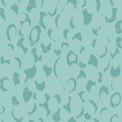 leaf relief - aqua blue