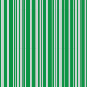 Green and Silver Stripes