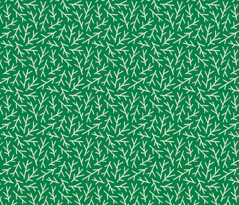 Stems Green Large fabric by khubbs on Spoonflower - custom fabric