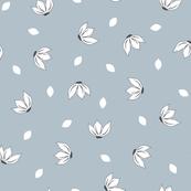 Cotton Flower Petals Powder Blue