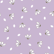 Cotton Flower Petals Lilac