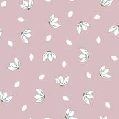 Cotton Flower Petals Pale Pink