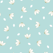 Cotton Flower Petals Mint