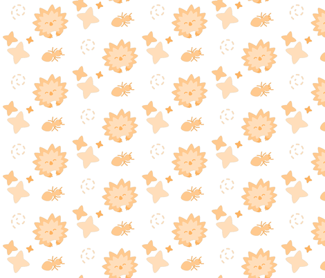 Spriton the Echidna - Playful Pattern fabric by imakethepretty on Spoonflower - custom fabric