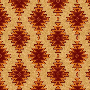 Sandy Kilim- Fire - Southwest Aztec