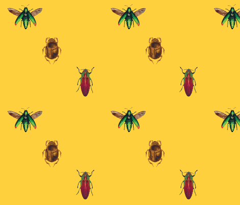 Insect_pattern fabric by dianakreider on Spoonflower - custom fabric