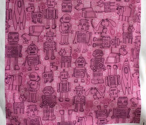Robot Pattern - Pink