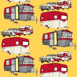 Nifty Fifties Summer Camper Trailer