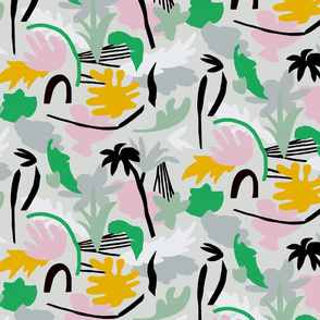 Tropical_summer_leaves_pattern with green