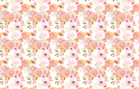 INDY BLOOM Rainbow florals fabric by indybloomdesign on Spoonflower - custom fabric