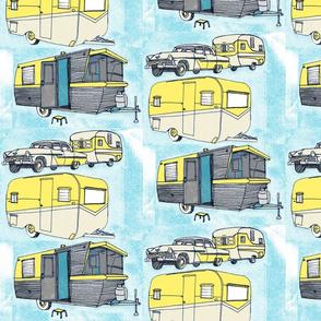 Retro Summer Vacation Trailer Camper