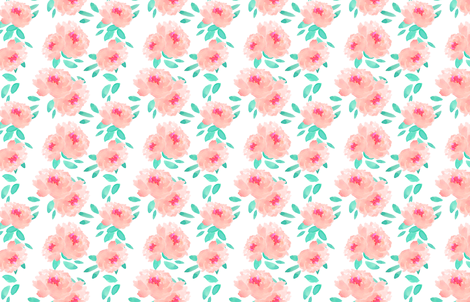 Indy Bloom Pink Peoy fabric by indybloomdesign on Spoonflower - custom fabric